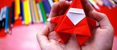 How To Fold An Origami Santa Claus - Art for Kids Hub