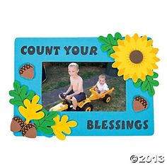 """""""Count Your Blessings"""" Photo Frame Magnet Craft Kit - Oriental Trading"""