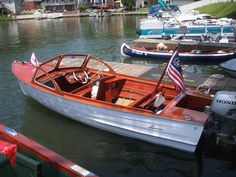 Wooden Boats Lyman Boats, Runabout Boat, Classic Wooden Boats, Boat Engine, Vintage Boats, Old Boats, Making Waves, Power Boats, Anchors