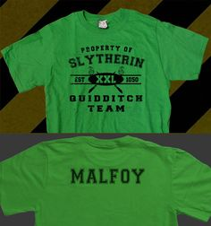 Slytherin Custom Name Quidditch Team Unisex TShirt by RabidTeddy