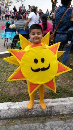 Disfraz de Sol Fancy Dress Costumes Kids, Fancy Dress For Kids, Toddler Costumes, Summer Crafts For Kids, Projects For Kids, Art For Kids, Sewing Projects, Halloween Party Decor, Halloween Costumes For Kids