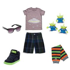 Toddler boy's spaceship outfit complete with new BabyLegs legwarmers in Big Dipper.