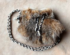 Bobcat fur pouch by Lupa. At http://thegreenwolf.etsy.com