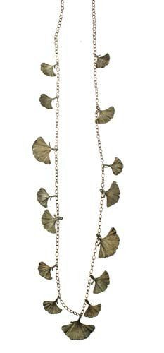 Silver Seasons - Michael Michaud - Long Gingko Necklace