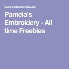 Pamela's Embroidery - All time Freebies
