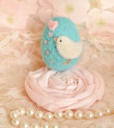 Needle Felted Handmade, OOAK, Easter Egg, to create the Perfect Basket by Cynthia Foust Wolfe on Etsy, $12.00