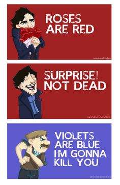 roses are red surprise not dead violets are blue I'm gonna kill you / Sherlock and John Valentine Sherlock Bbc, Sherlock Fandom, Spideypool, Vatican Cameos, Getting Over Him, Mrs Hudson, Sherlolly, E Mc2, 221b Baker Street