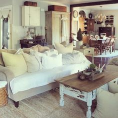 Farmhouse Living Room At Home on SweetCreek