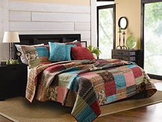 Greenland Home 4 Piece New Bohemian Bonus Quilt Set Twin -- Visit the affiliate link Amazon.com on image for more details.