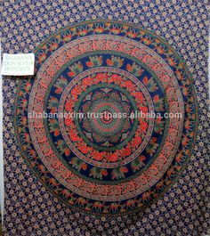 Check out this product on Alibaba.com APP Indian printed tapestry mandala 3d Tie & Dye Printed Tapestry beach throw Indian fabric made Cotton tapestry wholesale