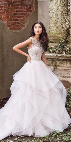 Chic Bridal Dresses: Styles And Silhouettes ❤ See more: http://www.weddingforward.com/bridal-dresses/ #weddings