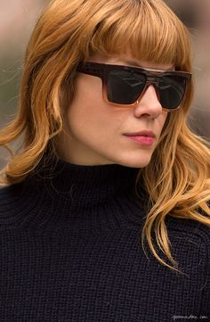 Bangs, Brianna Lance, red hair, sunglasses / Garance Doré