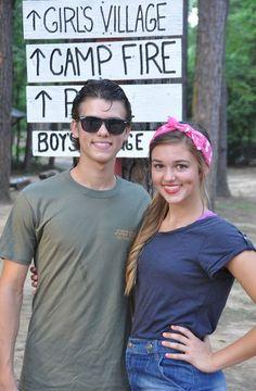 haha John Luke and Sadie at camp on 60's night :)