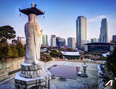 #Seul è il centro culturale e affaristico della Corea del Sud, dove i grattacieli torreggiano sui templi buddisti. #Seul the cultural and business center of South Korea.   #Alitalia #flight #discover #travel #love #journey #amazing #place #world #destination