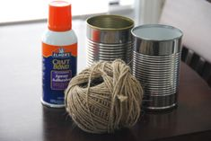eco friendly jute twine tin can centerpiece vase decoration craft