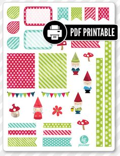 """One 8.5"""" x 11"""" PDF PRINTABLE file for use in your Erin Condren life planner…"""