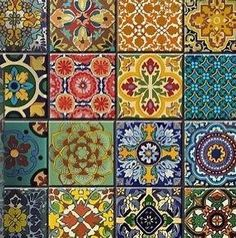 Love this mix of different patterns and colours - Home Decor