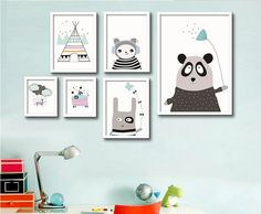 Modern Minimalist Lovely Cartoon Bear kids room Posters and prints Wall art canvas for home decoration No Frame-in Painting & Calligraphy from Home & Garden on Aliexpress.com | Alibaba Group