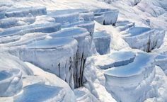 This is the Pamukkale - The coldest place in Turkey. Pamukkale, Top Travel Destinations, Best Places To Travel, Oh The Places You'll Go, Turkey Country, Turkey Travel, Travertine, Beautiful World, Photo Galleries