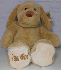 Knuffel WOEF troostbeer http://www.borduurkoning.nl/shop/baby_artikelen/knuffel