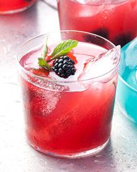 Blackberry-Mint Julep Recipe from Food & Wine.  This might be good for the fourth of july!