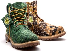The New Pharrell and Timberland Shoe Collection is Made from Recycled Plastic #shoes trendhunter.com