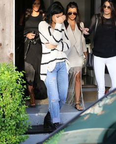 06.28.14: Kendall and Kylie out and about with Kim and Kourtney in The Hamptons