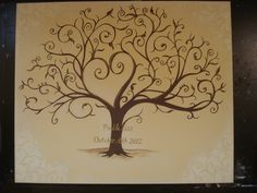Guest Book Fingerprint Tree I made for a soon to be family member :)   Pre Prints!