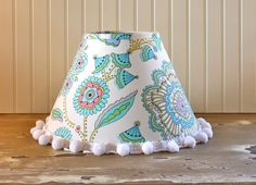 Whimsy Floral Coolie Lampshade by Sassyshades on Etsy, $55.00
