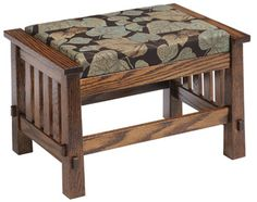 33% OFF Amish Furniture - Hand Crafted Shaker and Mission Furniture Online Outlet Store: Country Mission Ottoman: Oak
