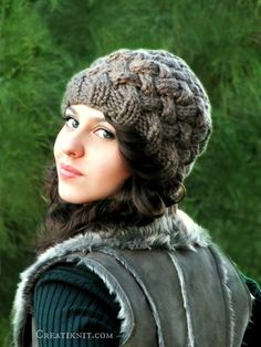The Basket weave hat - knitting pattern.    Looks like entrelac, but is so much easier...and knits in less than a weekend!