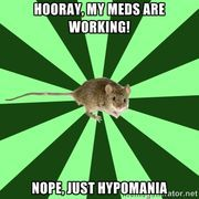 Mental illness mouse bipolar disorder, generalized anxiety disorder, cerebral palsy and. Because I needed something else wrong with me! Chronic Illness, Chronic Pain, Mental Illness, Fibromyalgia, Endometriosis, Bipolar Humor, Bipolar Disorder, Bipolar Quotes, Mental Health Humor