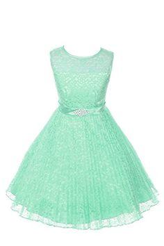 JM DREAMLINE Lovely Tulle Pleated Lace Flower Girl Dress (Mint Size 4) JM DREAMLINE http://www.amazon.com/dp/B00YDFORJI/ref=cm_sw_r_pi_dp_T4vNwb0MSFRPV