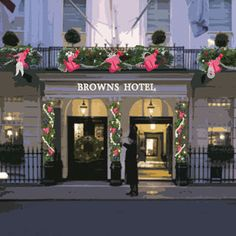 Christmas at Brown's in London