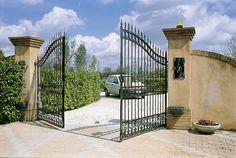 Garage Door Springs, Garage Doors, Garage Door Spring Repair, Gate Openers, Brick Columns, Metal Gates, Heaven's Gate, Main Gate, Automatic Gate