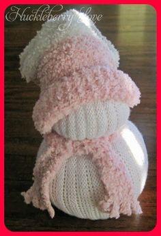 Huckleberry Love: Super Simple DIY Sock SnowMen {Tutorial}