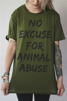 No excuse for animal abuse! More