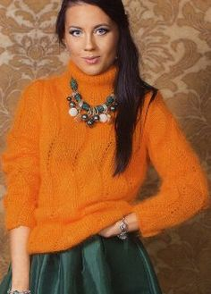 Suéter de muestra ondulada Talla: 40/42. http://tejidogratis.com/44-tejido-para-mujeres-agujas/sueter/832-su-ter-de-muestra-ondulada-46.html
