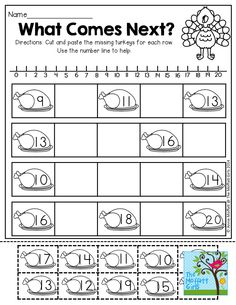What Comes Next? Working with teen numbers!  TONS of interactive and FUN printables!