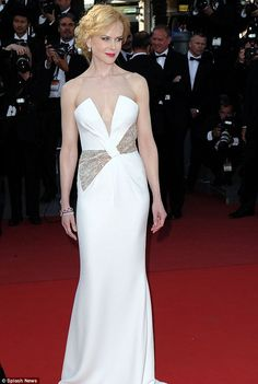 Nicole Kidman lovely in a demure yet daring Giorgio Armani gown for the closing ceremony at Cannes