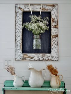 Easy DIY Rustic Farmhouse Framed Chalkboard