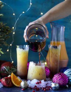 tequila christmas sunrise I howsweeteats.com #cocktails #tequila #sunrise #christmas