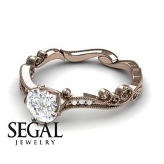 Rose Gold Engagement Ring by Segal Jewelry Wedding Rings Rose Gold, Wedding Jewelry, Gold Wedding, Elegant Engagement Rings, Rose Gold Engagement Ring, Edwardian Ring, Proposal Ring, Fashion Rings, Fine Jewelry