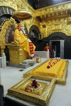 Shirdi Sai Samadhi Mandir. I wish He would call me to him. The pull felt in that temple cannot be described in words.