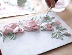 Evgenia Ermilova's photos Painting Plaster Walls, Plaster Art, Clay Wall Art, Clay Art, Sculpting Tutorials, Art Tutorials, Texture Art, Texture Painting, Plaster Crafts