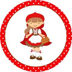 Toppers Cupcakes  Chapeuzinho Vermelho