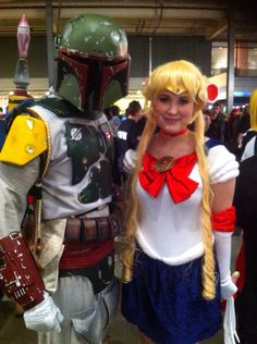 Myself as Sailor moon! Together with boba fett