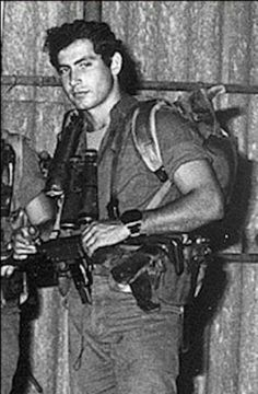 Israel's Benjamin Netanyahu as a young soldier.