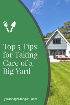 Learn how to take care of a big yard with these easy to tips. Our tips will save you time and effort and get your big yard looking amazing.