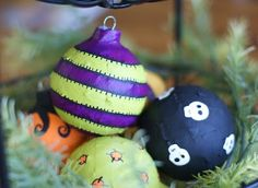 I want to make a black xmas tree next year with these for a Nightmare Before Christmas decoration!